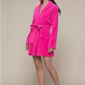 Juicy Couture Soft Velour Women's Spa Bathrobe XS